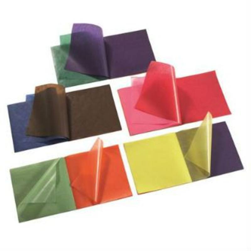 Waxed Kite Paper Assorted Colours 16x16cm - 5x100 sheets