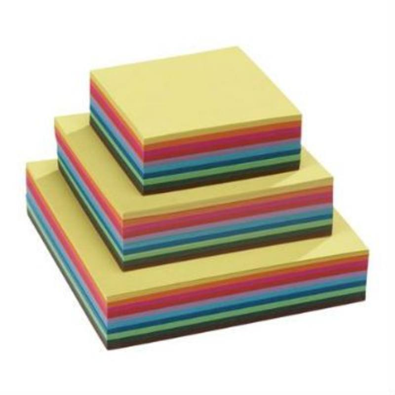 Square Folding Paper Heavy 140gm 250 ass Sheets 10 colours