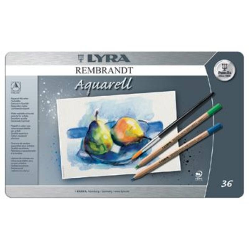Lyra Rembrandt Aquarelle Watercolour Pencil Tin 36 Assorted 2011360
