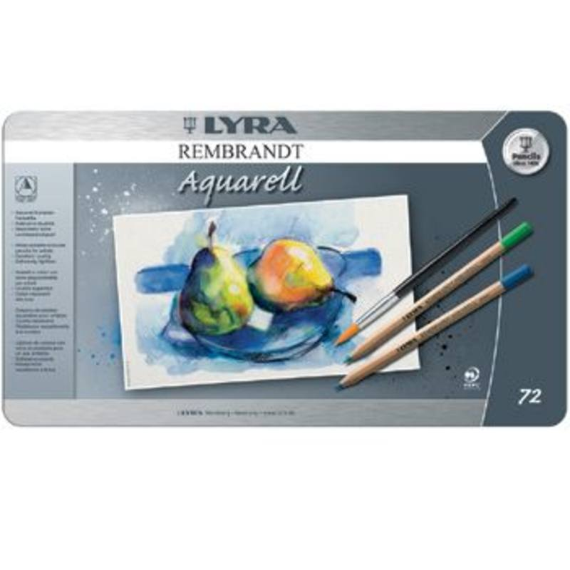 Lyra Rembrandt Aquarelle Watercolour Pencil Tin 72 Assorted 2011720
