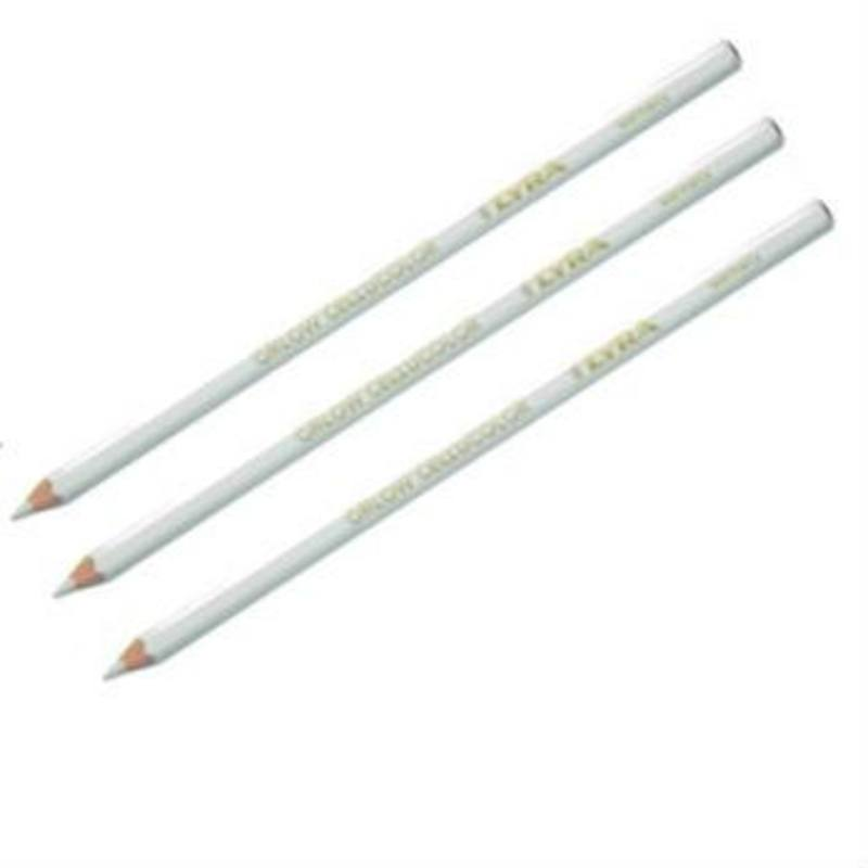 Lyra Orlow Cellucolor Universal Tough Pencil for all Surfaces Box of 12 WHITE ONLY