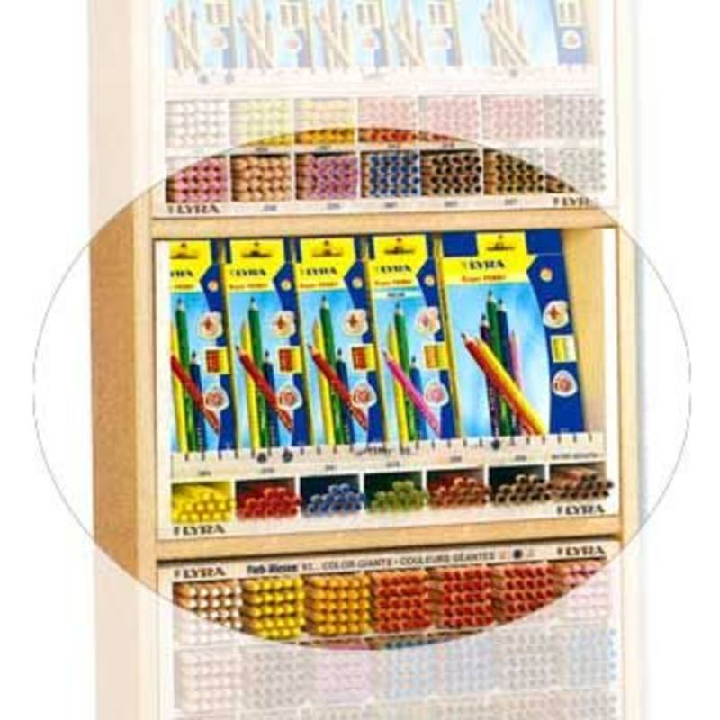 EMPTY Wooden display for Lyra Super Ferby 7 holes each fits 18 pencils + Open top display.