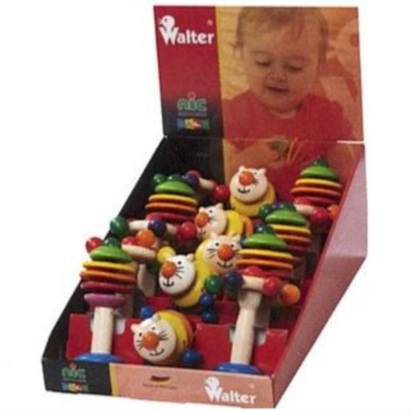 Walter Display w Wooden Rattling Tree Rattling Cat Carousel rattle 5 of ea SPECIAL ORDER