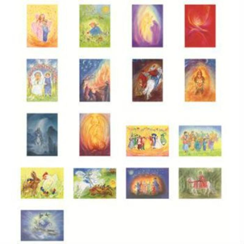 Postcards 'Seasons and Festivals Set 1'  assorted pk of 17 by Marjan van Zeyl