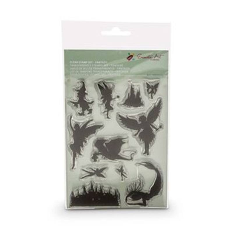 Encaustic Hot Wax Art Clear Stamp Set Fantasy