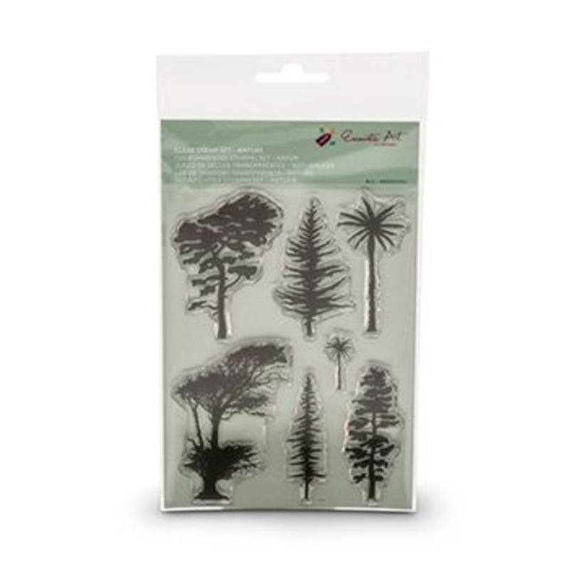 Encaustic Hot Wax Art Clear Stamp Set Nature