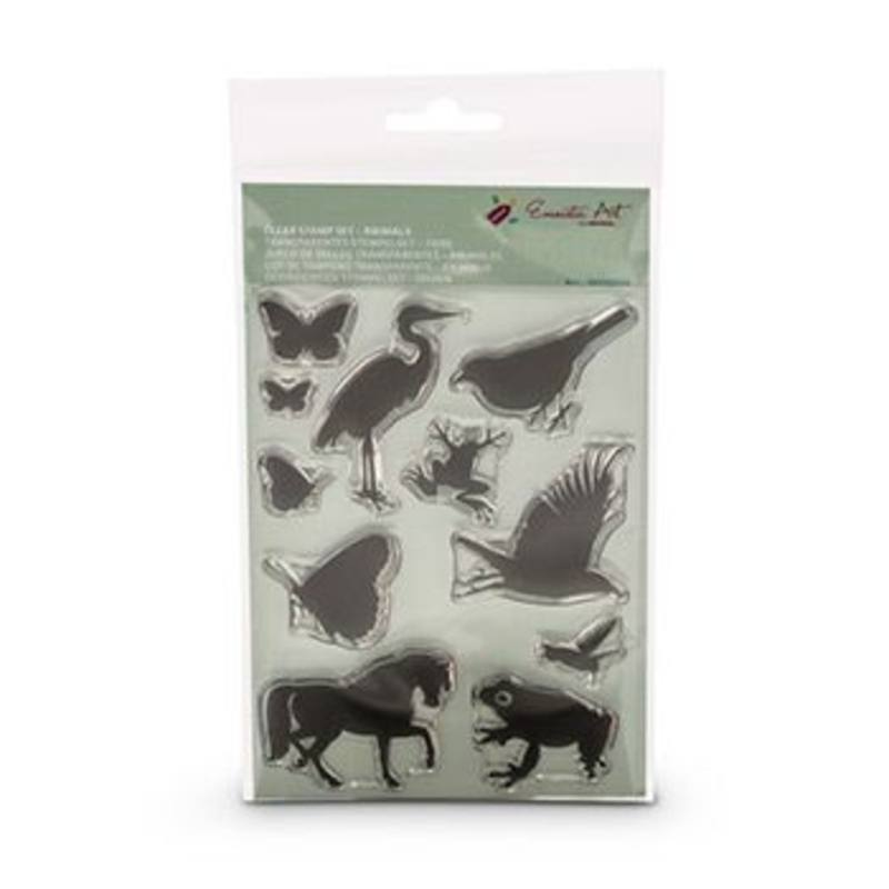 Encaustic Hot Wax Art Clear Stamp Set Animals