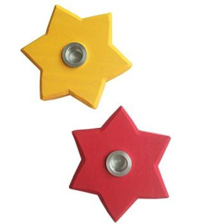 Buy Star Candle Holder hole size 1.8cm Red or Yellow  in Australia.