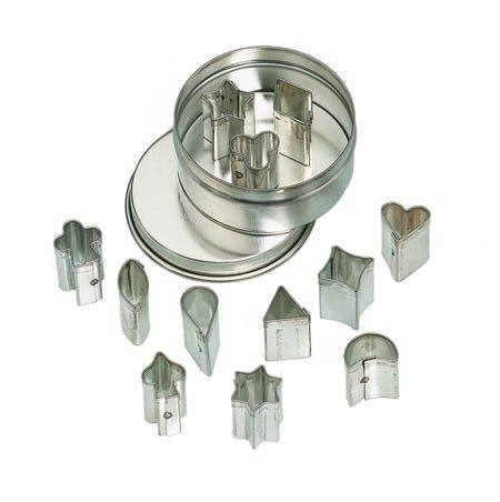 Buy Mini Cookie Cutter Set - 12 assorted shapes in Metal Box in Australia.