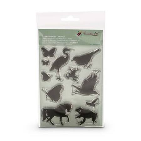 Buy Encaustic Hot Wax Art Clear Stamp Set Animals in Australia.