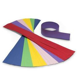 Buy Coloured Crown Paper - 63x6cm 48 Strips 6 colours mixed in AU Australia.