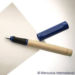Buy Greenfield Wooden Calligraphy Pen Medium 1.5mm-Blue cap in AU Australia.