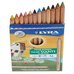 Buy Lyra colour giants unlacquered 12 assorted w Gold And Silver 3931122 in AU Australia.