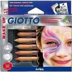 Buy Giotto Skin/Face Paint Pencils Plus 6 colour set inc metallics and pearls in AU Australia.