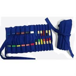 Buy Cotton wrapper for 12 wax crayons sticks and 12 wax blocks - Blue Australian made in AU Australia.