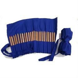 Buy Cotton wrapper for 24 hex or triangular pencils - Blue Australian made in AU Australia.