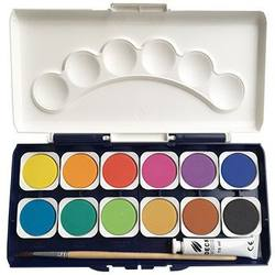 Buy Watercolour Paint Set - 12 colours incl paint brush +  tube of white paint in AU Australia.