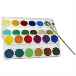 Buy Watercolour Paint Set - 24 colours in 2 layers incl paint brush + tube of white paint in AU Australia.
