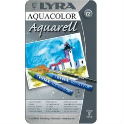 Buy Lyra Aquacolor Watercolour Artist Crayons 12 Colours in Tin in AU Australia.