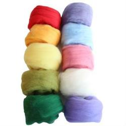 Buy Merino Wool Fleece 100gm pk of Assorted Colours in AU Australia.