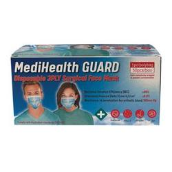 Buy MediHealth Guard Face Mask Surgical 3Ply Disposable x 50 Pack in AU Australia.