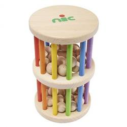 Buy Wooden Rainbow Rain Stick Rattling Tower 10x17cm in AU Australia.
