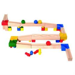 Buy Cubio Wooden Ball Run Basic Set 61 pcs in AU Australia.