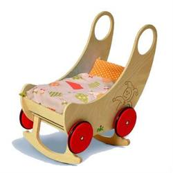Buy Childrens Convertible Wooden Cradle and Pram - Natural 60x38x60cm in AU Australia.