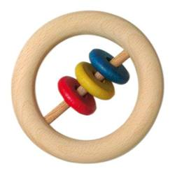 Buy Wooden Rattle Rring w disks big 8cm (5pk price ea) SPECIAL ORDER in AU Australia.