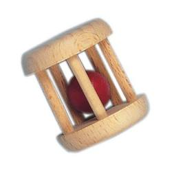 Buy Wooden cage rattle w red ball (5pk price ea) in AU Australia.