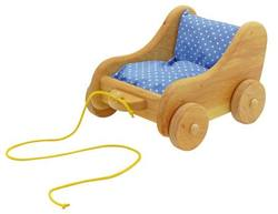 Buy Childrens Wooden Tow Around Doll Pram / Trolley - small w bedding SPECIAL ORDER in AU Australia.