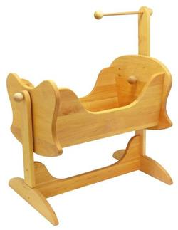 Buy Childrens Wooden Doll Rocking Cradle in AU Australia.