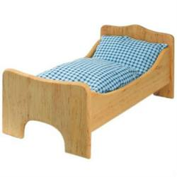 Buy Childrens Wooden Doll Bed L50cmxW24cmxH22cm in AU Australia.