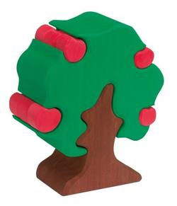 Buy Wooden Puzzle Blocks - Apple tree w 12 apples 17cm high in AU Australia.