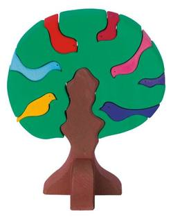 Buy Wooden Puzzle Blocks - Bird tree dark green 23x19x11cm 9 pieces in AU Australia.