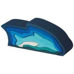 Buy Gluckskafer Wooden Blocks - Dolphin 9 Parts 23x6x9cm SPECIAL ORDER in AU Australia.