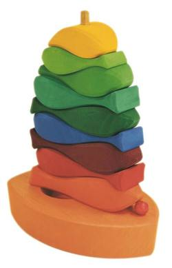 Buy Wooden Puzzle Blocks - Fish Tower 10 elements 16x7x21cm in AU Australia.