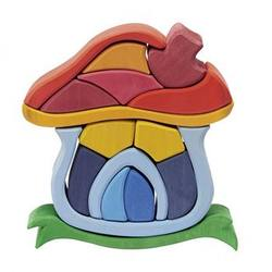 Buy Gluckskafer Wooden Blocks - Mushroom House 16pcs in AU Australia.