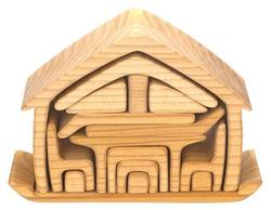 Buy Gluckskafer Wooden Blocks - All-in house natural 17 pcs 22x7x15cm in AU Australia.