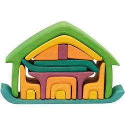 Buy Gluckskafer Wooden Blocks - All-in house green 17 pcs 22x7x15cm in AU Australia.