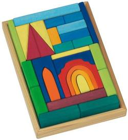 Buy Gluckskafer Wooden Blocks - Church w tray 29 pcs in AU Australia.