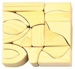 Buy Gluckskafer Wooden Blocks 17 pcs natural big 6cm thick in AU Australia.