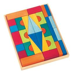 Buy Gluckskafer Wooden Blocks - Toskana Large w Tray 36 pcs in AU Australia.