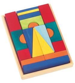 Buy Gluckskafer Wooden Blocks - Tuscan Small w Tray 20 pcs in AU Australia.