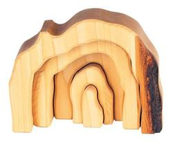 Buy Gluckskafer Wooden Blocks - Wooden Grotto set 5 parts natural in AU Australia.