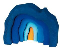 Buy Wooden Grotto set 5 parts blue in AU Australia.