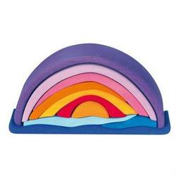 Buy Wooden Block Puzzle - Sunset Rainbow Arch 10 pieces purple in AU Australia.