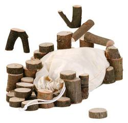 Buy Nic Branchwood Blocks in Cotton Net Bag - traditional 34 pcs in AU Australia.