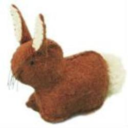 Buy Rabbit Handmade w Wool Felt Light Brown 4 cm in AU Australia.