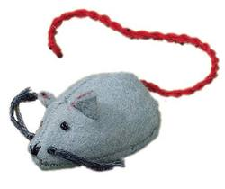 Buy Mouse Handmade w Wool Felt Grey 5 cm in AU Australia.